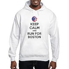 Keep calm and run for Boston Hoodie