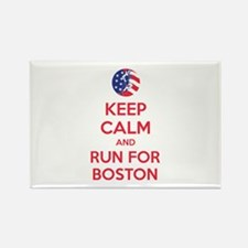 Keep calm and run for Boston Rectangle Magnet