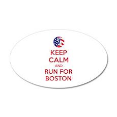 Keep calm and run for Boston 22x14 Oval Wall Peel