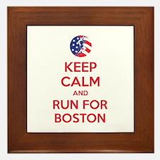 Keep calm and run for Boston Framed Tile