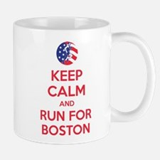 Keep calm and run for Boston Mug
