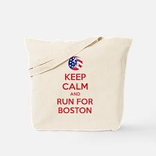 Keep calm and run for Boston Tote Bag