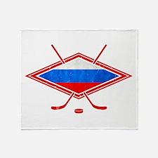 Russian Ice Hockey Flag Throw Blanket