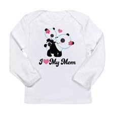 I Heart My Mom Pandas Long Sleeve Infant T-Shirt