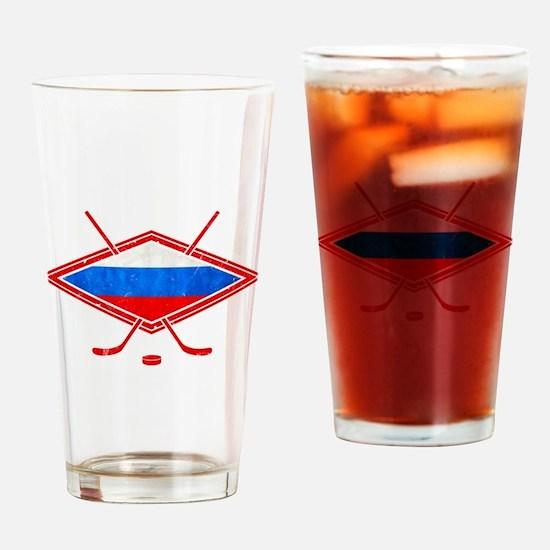 Russian Ice Hockey Flag Drinking Glass