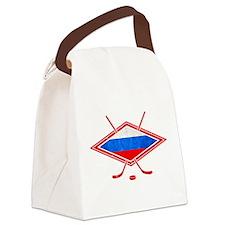 Russian Ice Hockey Flag Canvas Lunch Bag