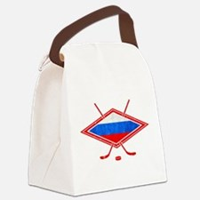 Russian Ice Hockey Flag Canvas Lunch Bag