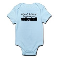 When I Grow Up Volleyball Baby Body Suit