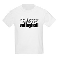 When I Grow Up Kids Volleyball T-Shirt