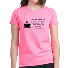 Large Tea And Book T-Shirt
