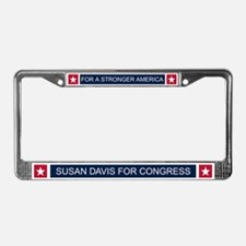 Elect Susan Davis License Plate Frame