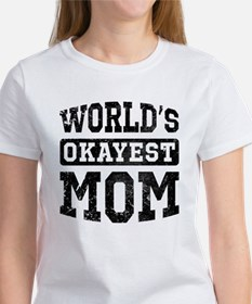 Vintage World's Okayest Mom Tee
