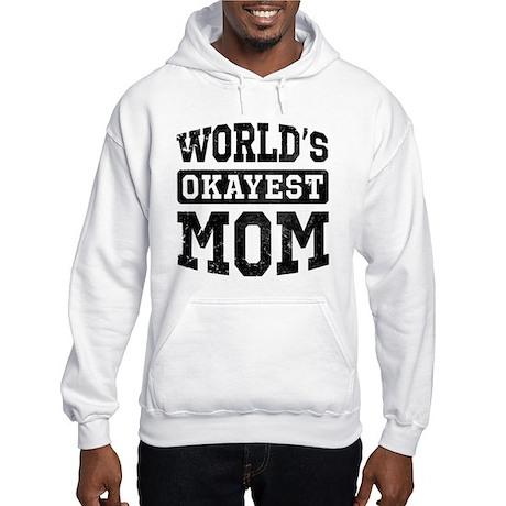 Vintage World's Okayest Mom Hooded Sweatshirt