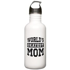Vintage World's Okayest Mom Water Bottle
