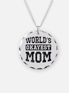 Vintage World's Okayest Mom Necklace