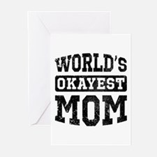 Vintage World's Okayest Mom Greeting Cards (Pk of