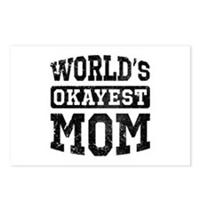 Vintage World's Okayest Mom Postcards (Package of