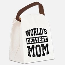 Vintage World's Okayest Mom Canvas Lunch Bag