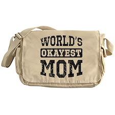 Vintage World's Okayest Mom Messenger Bag