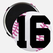 Softball Player Number 16 Magnet
