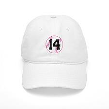 Softball Player Number 14 Baseball Cap