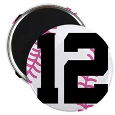 Softball Player Number 12 Magnet