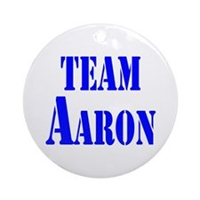 Team Aaron Ornament (Round)