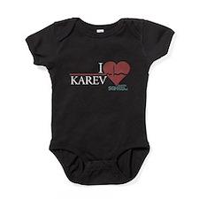 I Heart Karev Baby Bodysuit