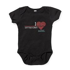 I Heart Little Grey Baby Bodysuit
