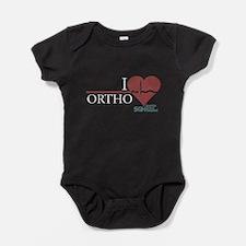 I Heart Ortho - Grey's Anatom Baby Bodysuit