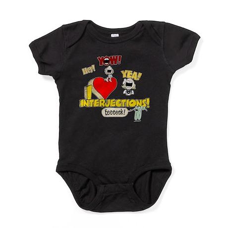 I Heart Interjections Baby Bodysuit