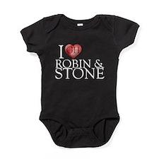 I Heart Robin & Stone Baby Bodysuit