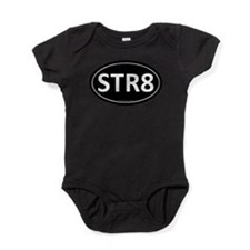 STR8 Black Euro Oval Baby Bodysuit