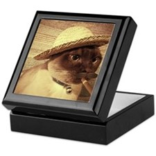 Gato w/Cigar Keepsake Box