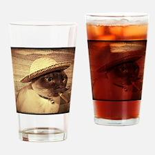 Gato w/Cigar Drinking Glass