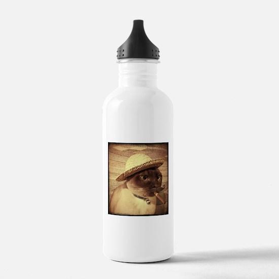 Gato w/Cigar Water Bottle
