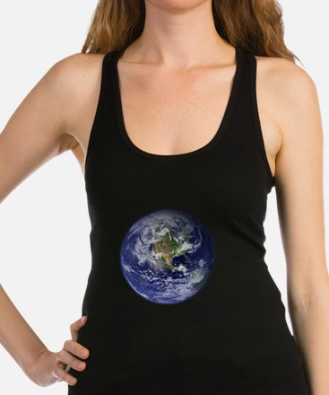 Western Earth from Space Racerback Tank Top