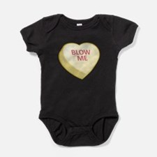 Blow Me Candy Heart Baby Bodysuit
