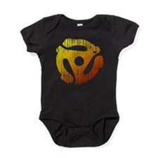 Distressed 45 RPM Adap Baby Bodysuit