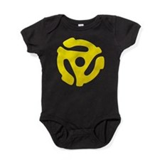 Yellow 45 RPM Adapter Baby Bodysuit