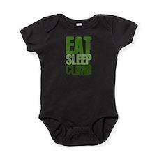 EAT SLEEP CLIMB Baby Bodysuit
