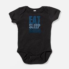 EAT SLEEP SWIM Baby Bodysuit