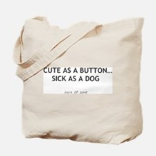 Cute Button Tote Bag