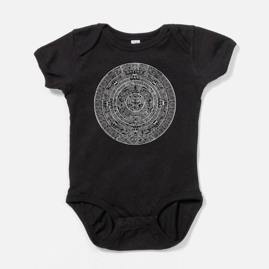 Aztec Sun Stone Calendar Baby Bodysuit