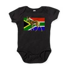 South Africa Springbok Flag Baby Bodysuit