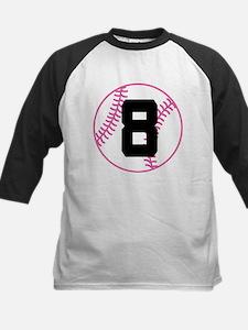Softball Player Number 8 Tee