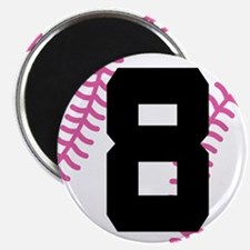 Softball Player Number 8 Magnet