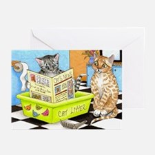 cat 464 funny Greeting Cards (Pk of 10)