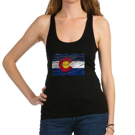 Colorado Vintage Flag Racerback Tank Top