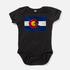 Colorado Snowboard Flag Baby Bodysuit
